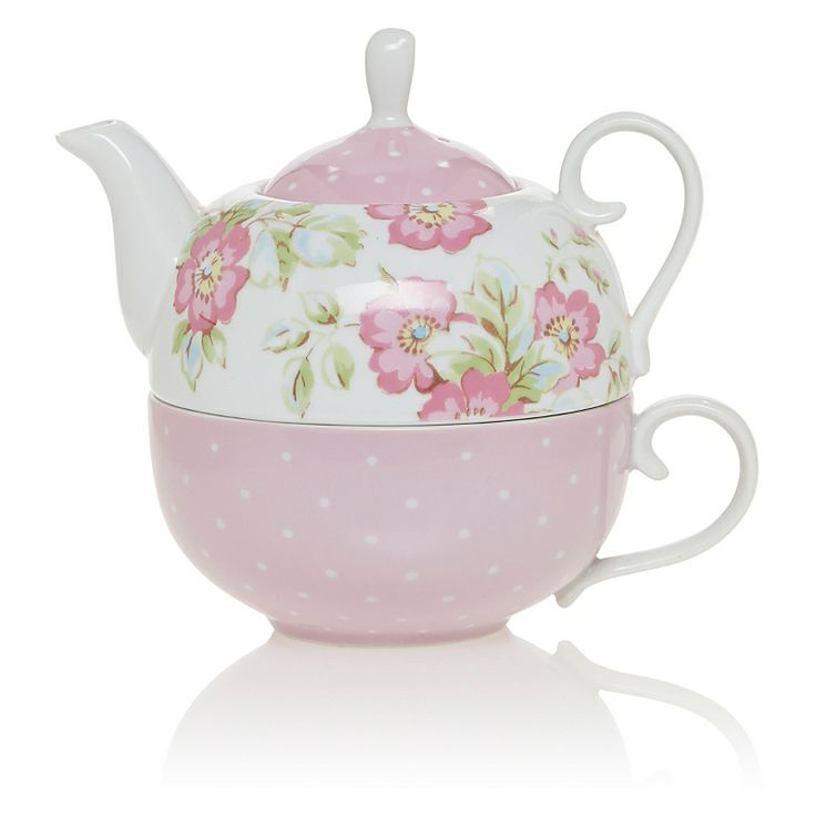 Katie Alice Candy Flower Tea For One | Dinnerware | ASDA direct
