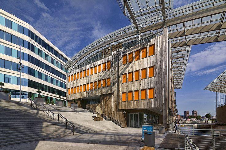 Astrup Fearnley Museum designed by Renzo Piano. Tjuvholmen, Oslo.
