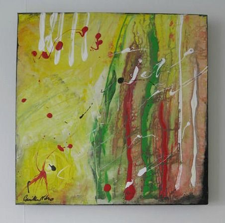 Art/Konst. Acrylic on canvas/Akryl på duk. 40 x 40 cm. By Camilla Nilsson, Camilla Nilsson Design.
