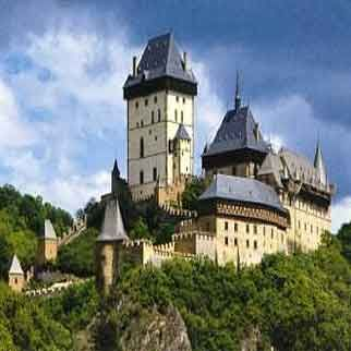 Karlstejn Castle was founded in 1348, and has a unique position among Czech castles. It was built by Czech King and Roman Emperor Charles IV as a place for safekeeping of the royal treasures