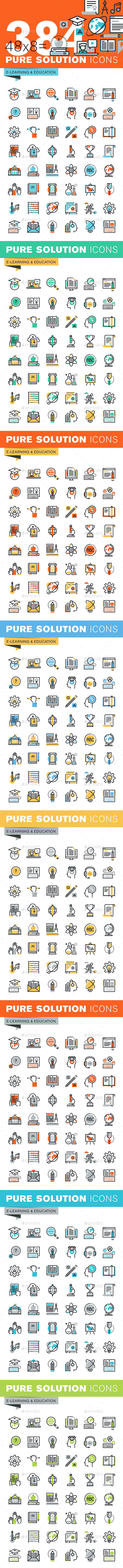 Set of Thin Line Flat Design Icons of Education. Download here: http://graphicriver.net/item/set-of-thin-line-flat-design-icons-of-education/14788429?ref=ksioks