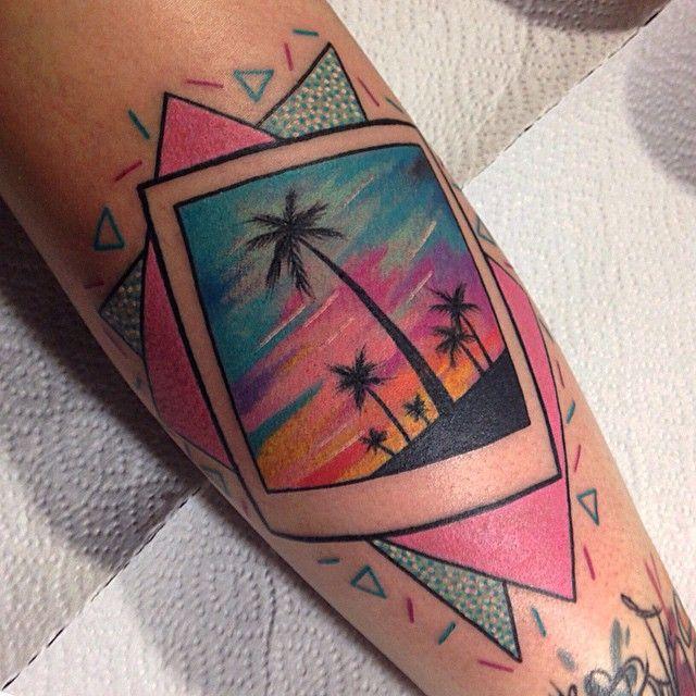 Kelly Rutherford  tattoo #80s #Miami #Polaroid