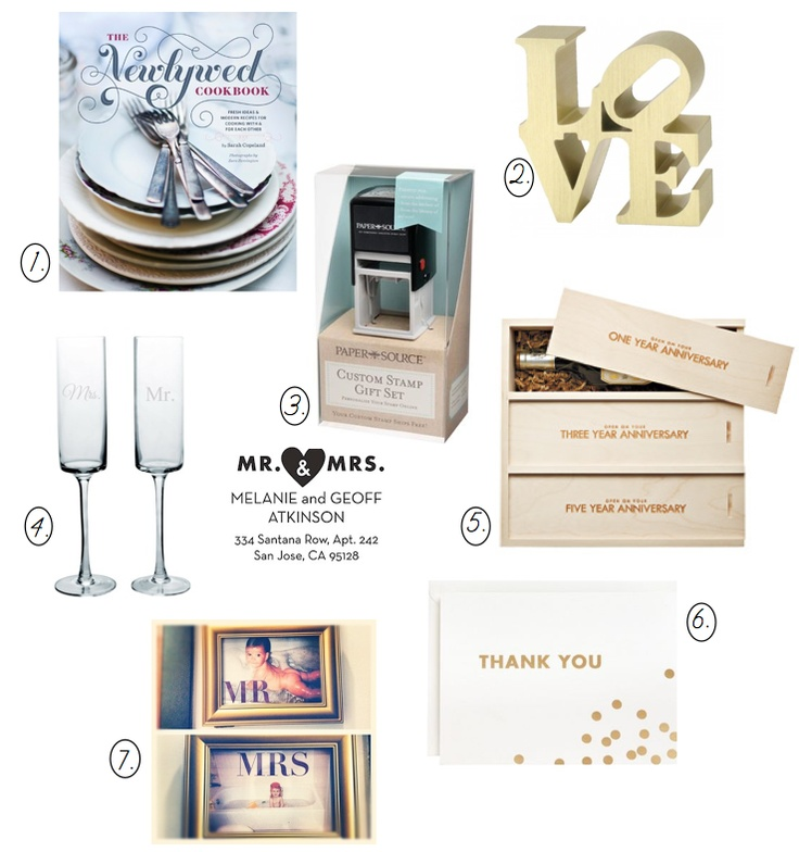 Wedding Gift List Thomas Cook : newlywed gift guide Wedding Pinterest