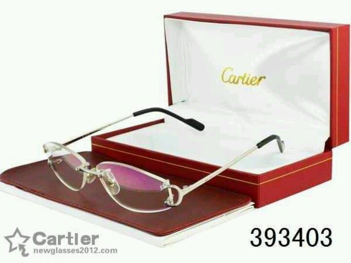 61228b4f649 Cartier Rimless Wood Glasses