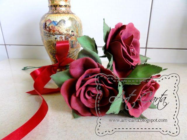 Art-Carta : Bordowe róże