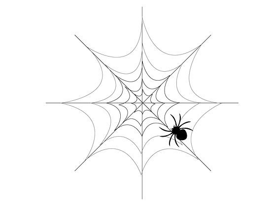 How to draw a simple spider web for Easy drawing websites