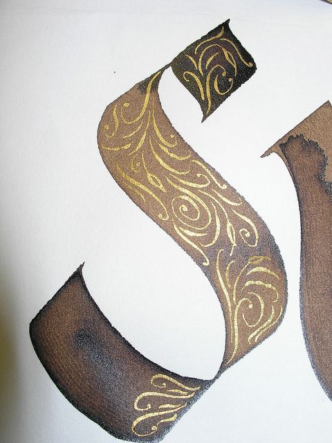 Calligraphy - S by carmelscribe, via Flickr