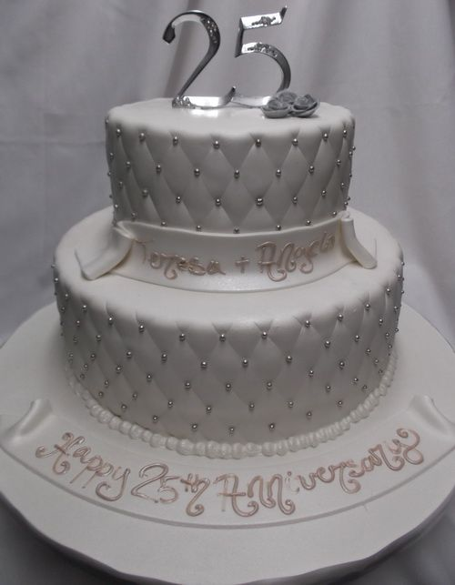 best-25th-anniversary-cake-designs ~ http://womenboard.net/getting-25th-wedding-anniversary-cakes/