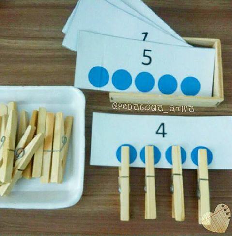 Montessori math exercise. #Kindergarten