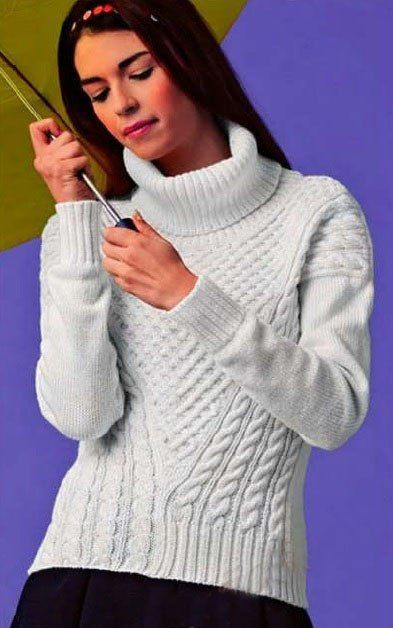 Вязаный свитер для девушки: 15 моделей со схемами, описанием и видео МК