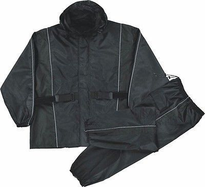MOTORCYCLE RAIN GEAR MEN'S RAIN SUIT WATERPROOF LIGHTWEIGHT BLACK COLO – Leather Place