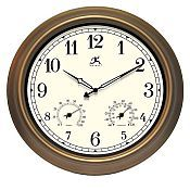 Craftsman Metal Outdoor Clock - 12144CP-1679