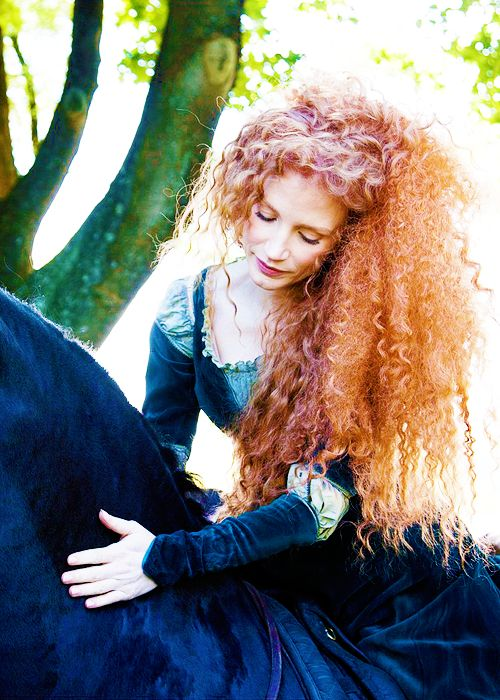 Jessica Chastain as Merida from Brave for the 'Disney Dream Portrait' series by Annie Leibovitz.
