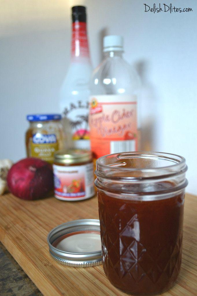 Tropical Guava BBQ Sauce | DelishDLites.com