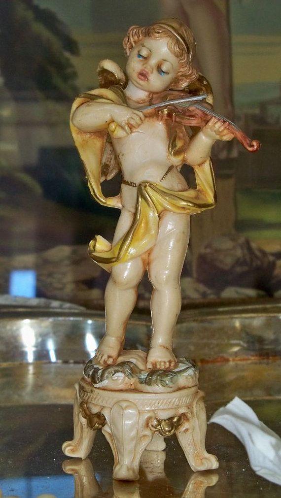 Vintage cherub angel figurine Fontanini Depose by AnitaSperoDesign, $20.00