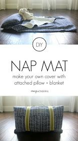 DIY Preschool Nap Mat Cover Tutorial With Attached Blanket Pillow Straps And Handle