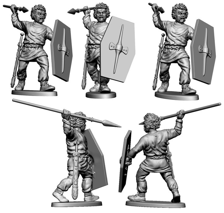 Second Gallic infantry figure.