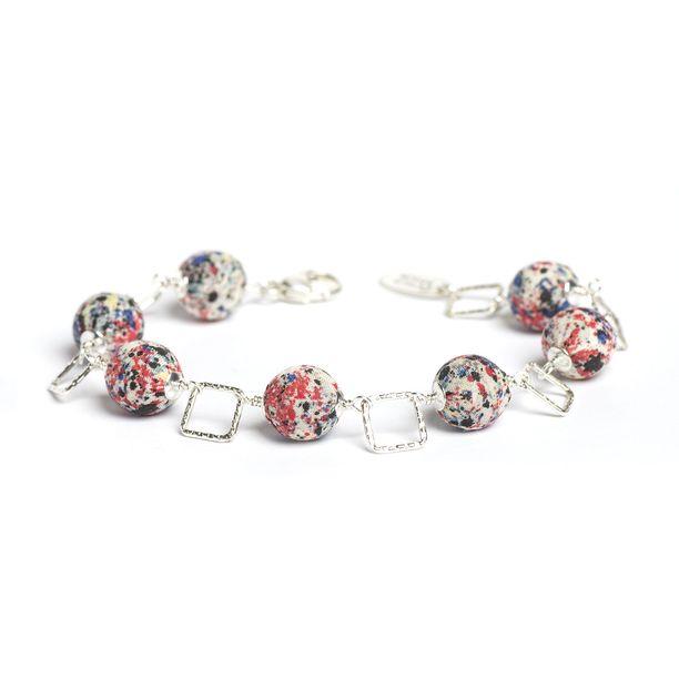 Liberty Print Squares Bracelet jewelry, multi, bracelets