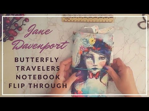 YouTube flip through of my Jane Davenport Butterfly Book Travelers Notebook and Plannercon Europe Journal  Kerrymay._.Makes