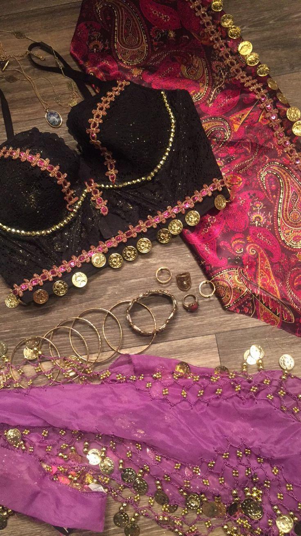 Gypsy Fortune Teller Halloween Costume  Halloween Makeup -1109