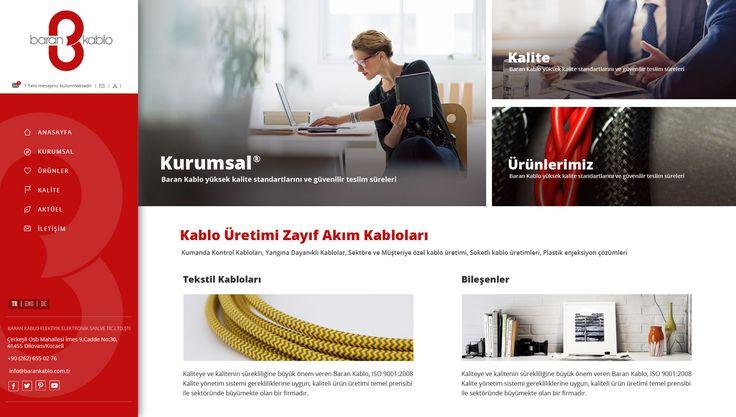 BARAN KABLO® Tekstil Kabloları web tasarım projesi tamamlandı. Web tasarım hizmetlerinin marka ismi #birNC ile hedeflerinize daha hızlı yaklaşabilirsiniz. Web Tasarım Ajansı birNC ► www.birnc.com.tr #WebTasarım #WebTasarımı #WebSitesi #WebSitesiTasarımı #FabricCable #BaranKablo