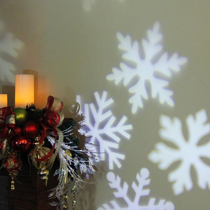 Outdoor LED Snowflake Christmas Light Projector with Remote Control    Overstock.com Shopping - The