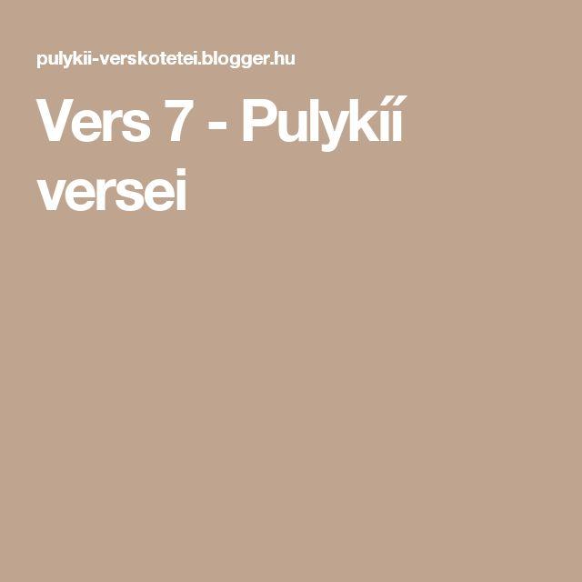 Vers 7  - Pulykíí versei