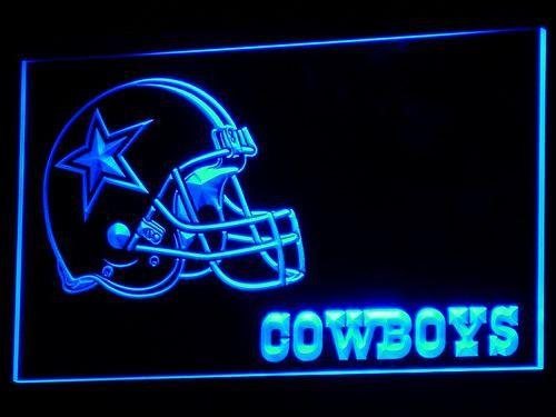 Dallas Cowboys Helmet Bar LED Neon Light Sign