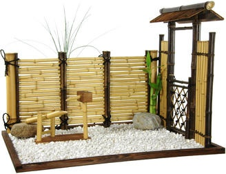zen bamboo mini garden... fun. Could even have a mini sand area with a mini rake!