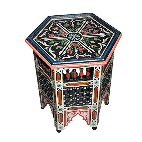 Amazon.com: Moroccan Octagonal Moucharabieh Handpainted Table Arabic Design Furniture: Kitchen & Dining