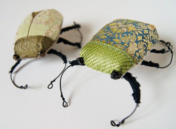 Mystical Scarab Beetle Sculpture Fiber Art Ancient Egypt Entomology Natural History Gift Nature Lover Gift Luxury Woodland Gift