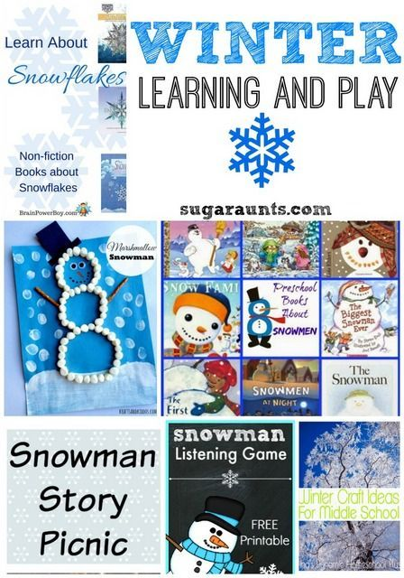 Wondering what to do with the kids in the winter? Try these books, crafts, listening activities, and more!