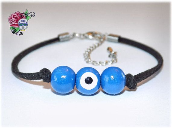 Bracelet Mauvais Oeil Protection par ValniDesignsJewelry sur Etsy
