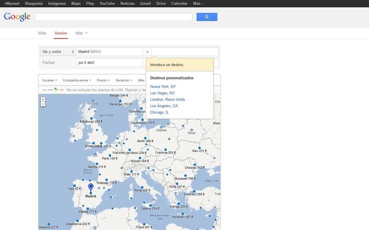 El buscador de vuelos baratos de Google ya está en España...(pinned by @Jag Tomas #ixu)