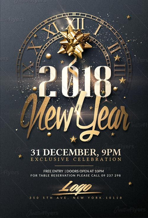 new year psd flyer template by creativeflyers branding flyer