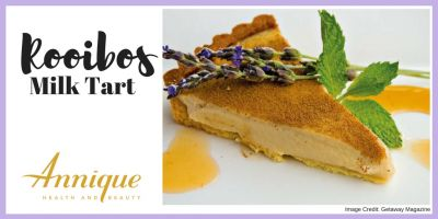 This Annique rooibos milk tart is surprisingly easy to make and is a delicious twist on the old favourite.