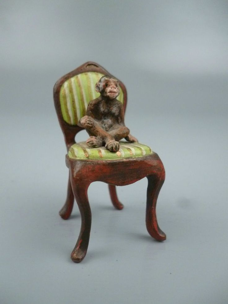 Cold Painted Austrian Bronze Seated Monkey in Chair #1 - Affe Wiener Vienna BR