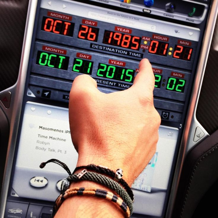 So, this is October 21, 2015. Now what? #beentheredonethat #fluxcapacitor #timemachine #bttf #wakami #teslamotors #robyn