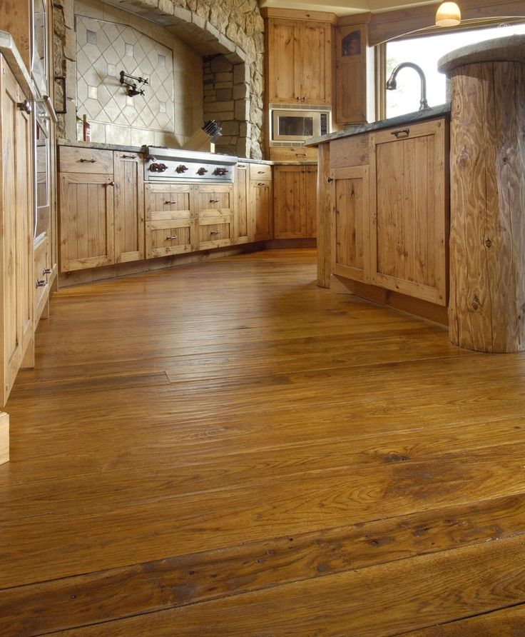 Hand Scraped Hickory Kitchen (With images) Wide plank