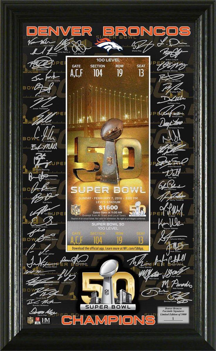 Denver Broncos Su... http://www.757sc.com/products/denver-broncos-super-bowl-50-champions-signature-ticket?utm_campaign=social_autopilot&utm_source=pin&utm_medium=pin #boutiques #mall #style #shoppingaddict #promo #shoppingtime #musthave