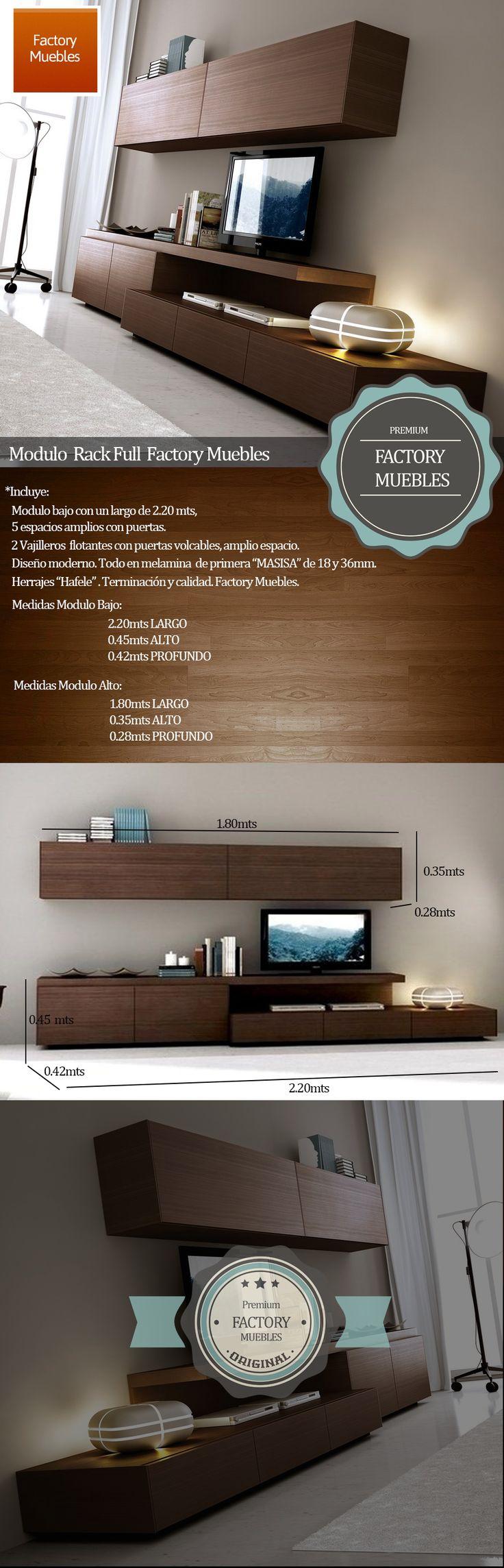 Modular Tv Lcd Rack Vajillero Excelente Calidad Garantia !! - $ 3.589,00 en MercadoLibre