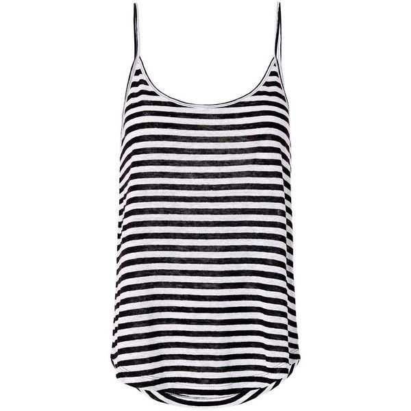 A.L.C. Women's Johnny Stripe Tank ($88) ❤ liked on Polyvore featuring tops, blusas, linen tops, linen tank tops, a.l.c top, stripe tank top and striped tank