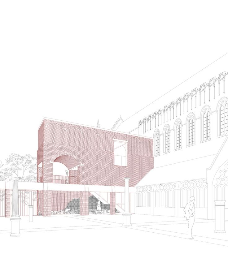DRDH architects   ampliación para servicios de la Catedral de St Martin   Ypres, Bélgica   2015