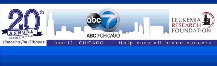 20th Annual ABC 5K Run & 3K Walk for Leukemia Research honoring Jim Gibbons ~ June 12, 2014 Chicago