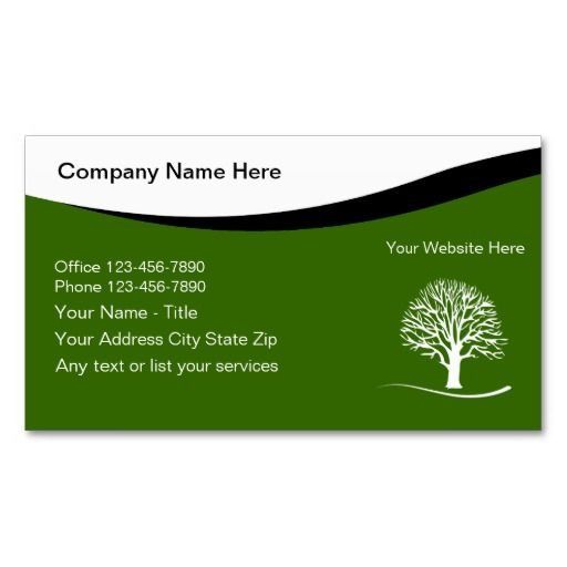 Landscaping Business Cards Landscaping Business and Cards