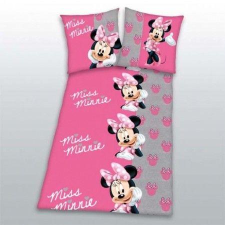 Minnie egér rózsaszín pamut flanel ágyneműhuzat