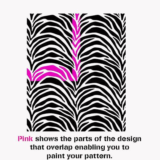 Patrón de rayas de la cebra plantilla plantilla de impresión