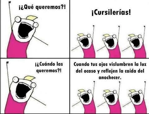 #SentidoDelTumor ¿Qué queremos? Cursilerías!
