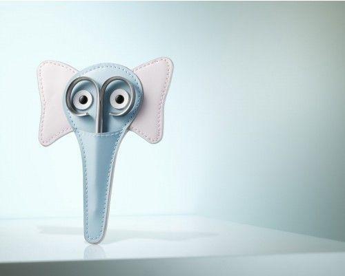 Stecketui Elefantina - Nagelschere mit abgerundeten Spitzen speziell fuer Babys und Kleinkinder. Jetzt auch mit persoenlicher Gravur! Hergestellt von Rubis Switzerland