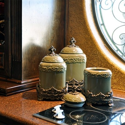 Sage Green Canisters Set 3
